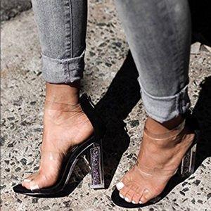 Glitter Heel Sandals